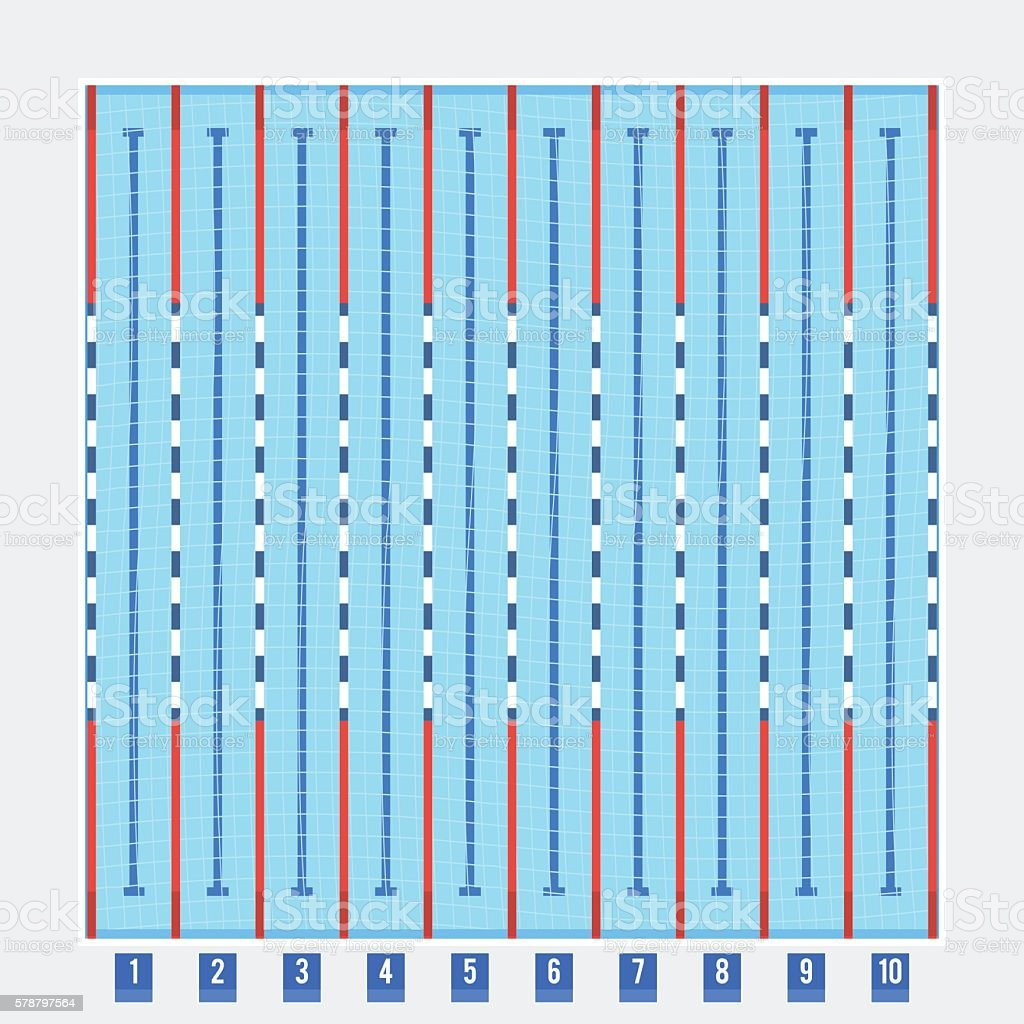 olympic swimming pool top view - Olympic Swimming Pool Diagram