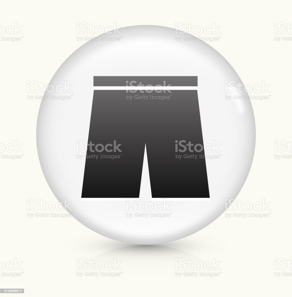 Swimming Trunks icon on white round vector button vector art illustration