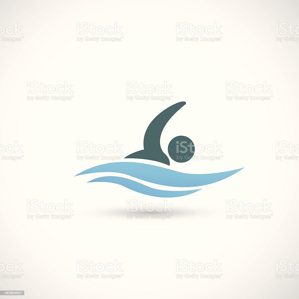 Swimming vector art illustration