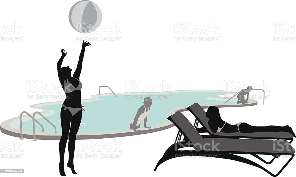 Swimming Vector Silhouette royalty-free stock vector art