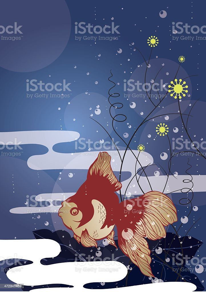 SwimmingGoldfish royalty-free stock vector art