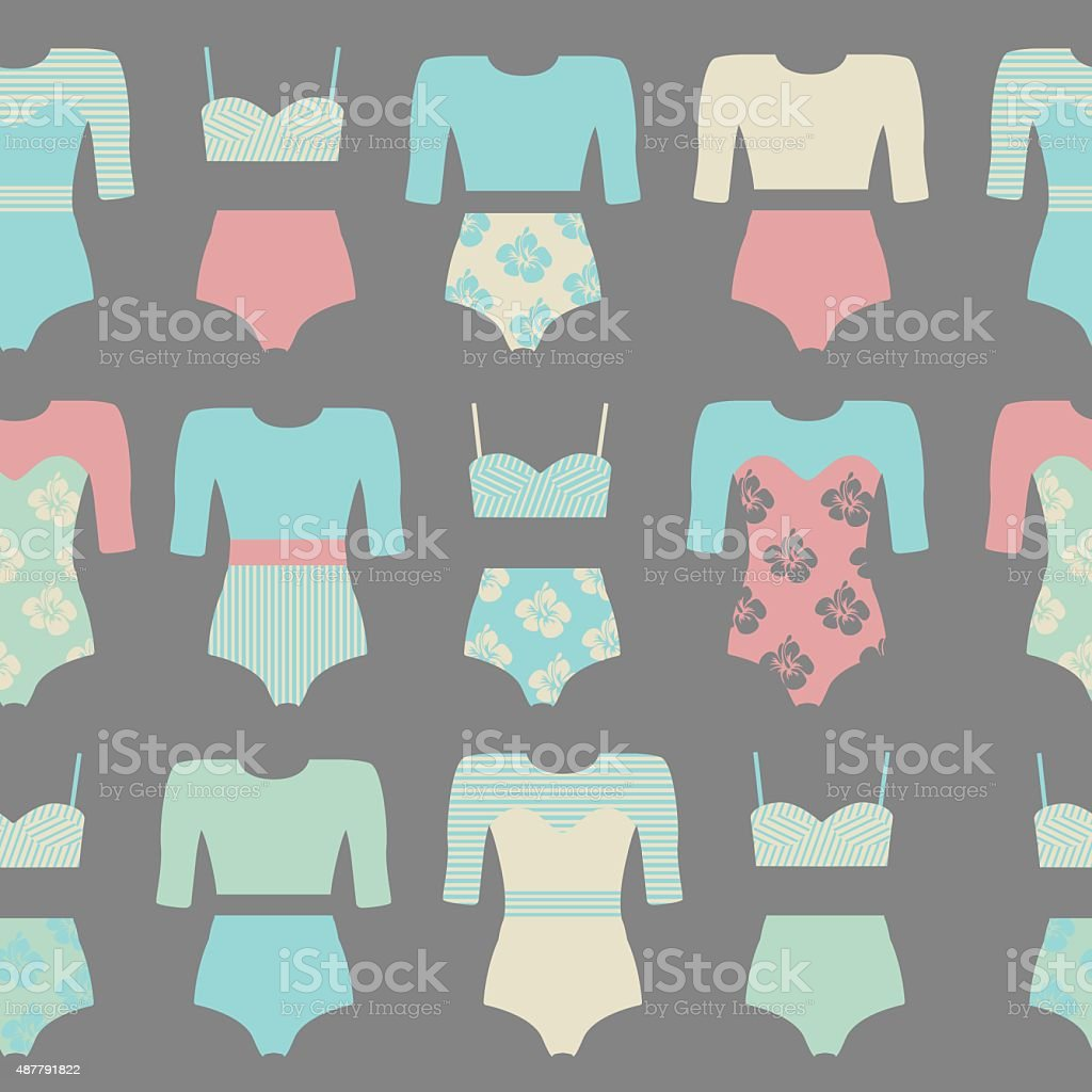 swimwear vector art illustration