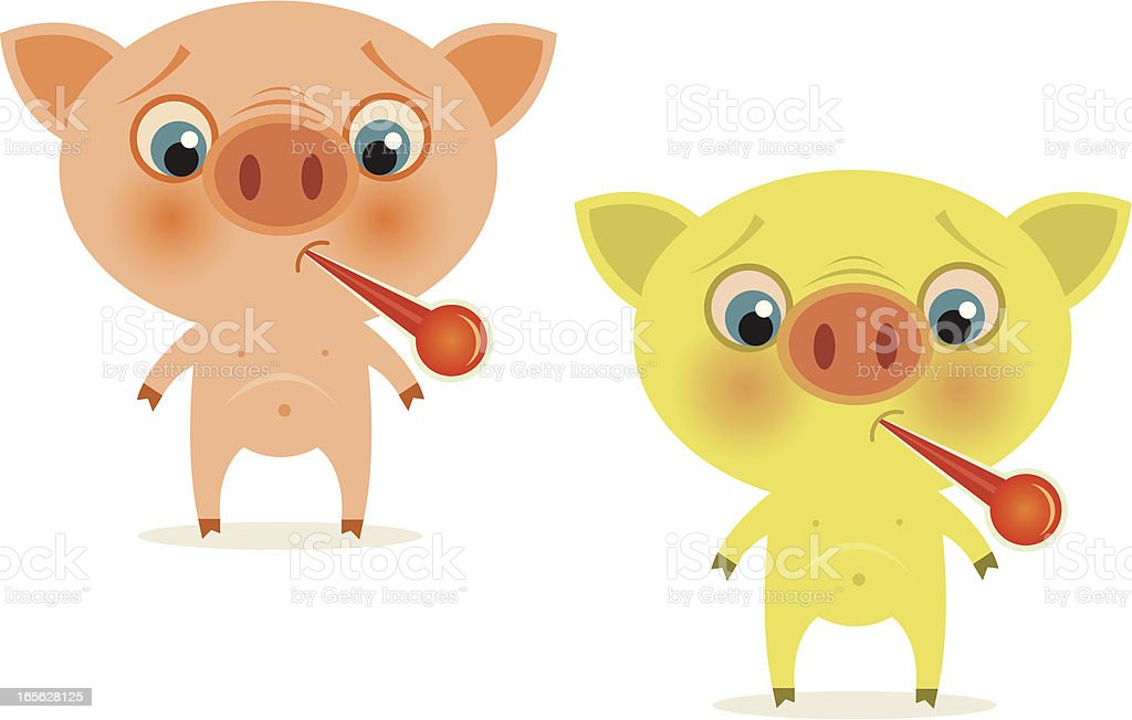 Swine Flu - H1N1 virus vector art illustration