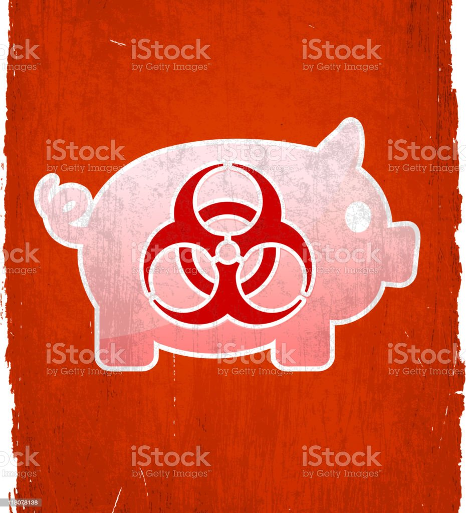 H1N1 Swine Flu on royalty free vector Background royalty-free stock vector art