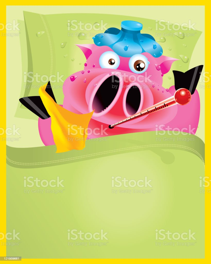 Swine Flu Pig royalty-free stock vector art
