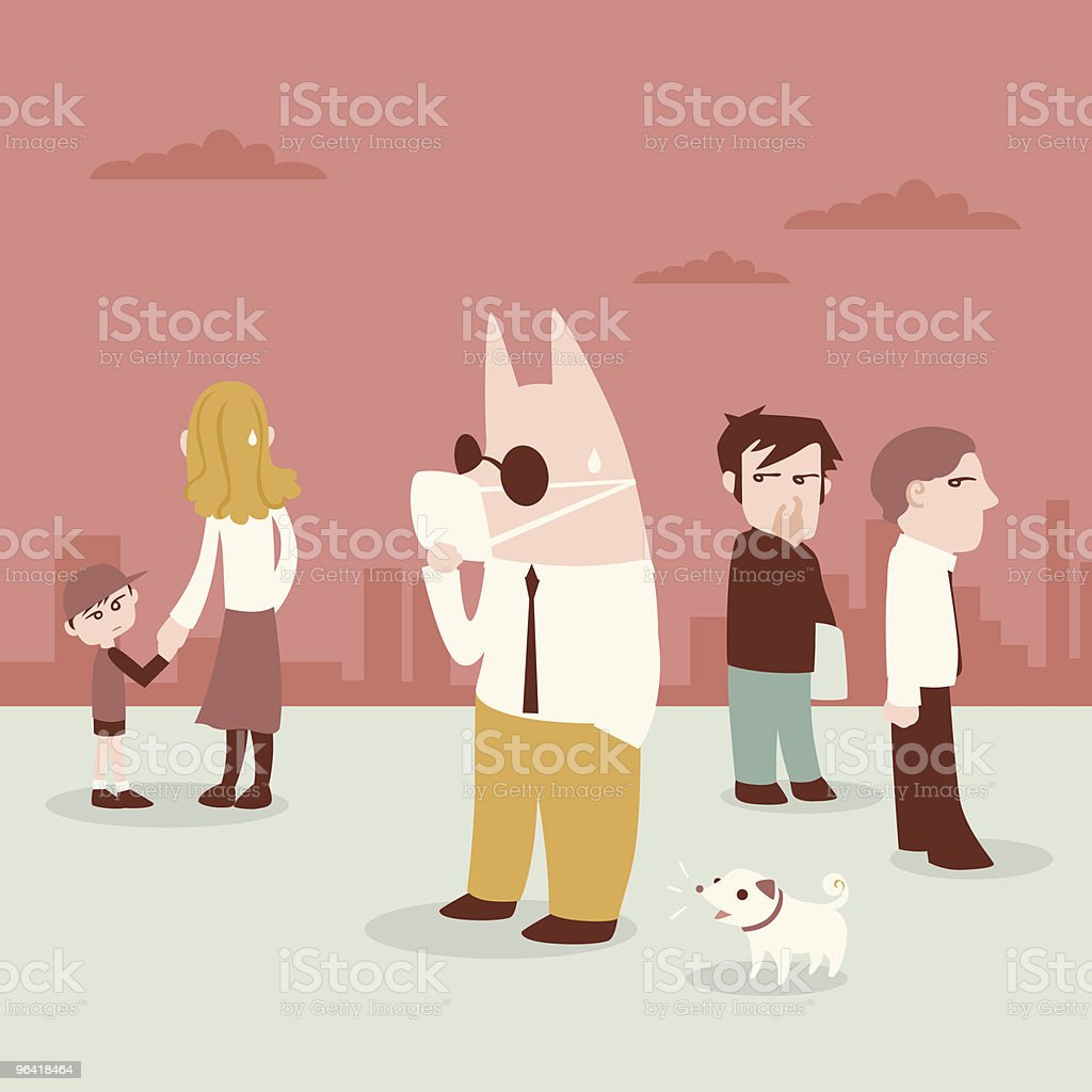 swine flu vector art illustration