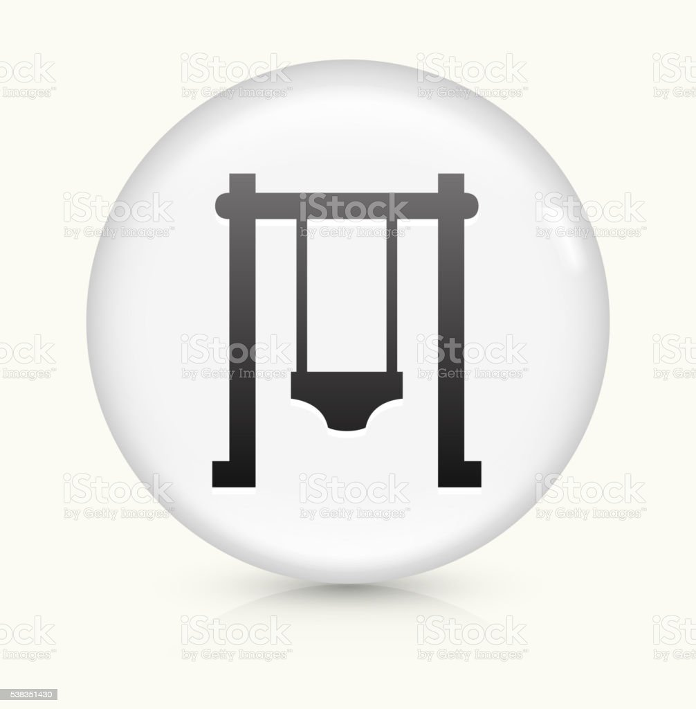 Swing icon on white round vector button vector art illustration