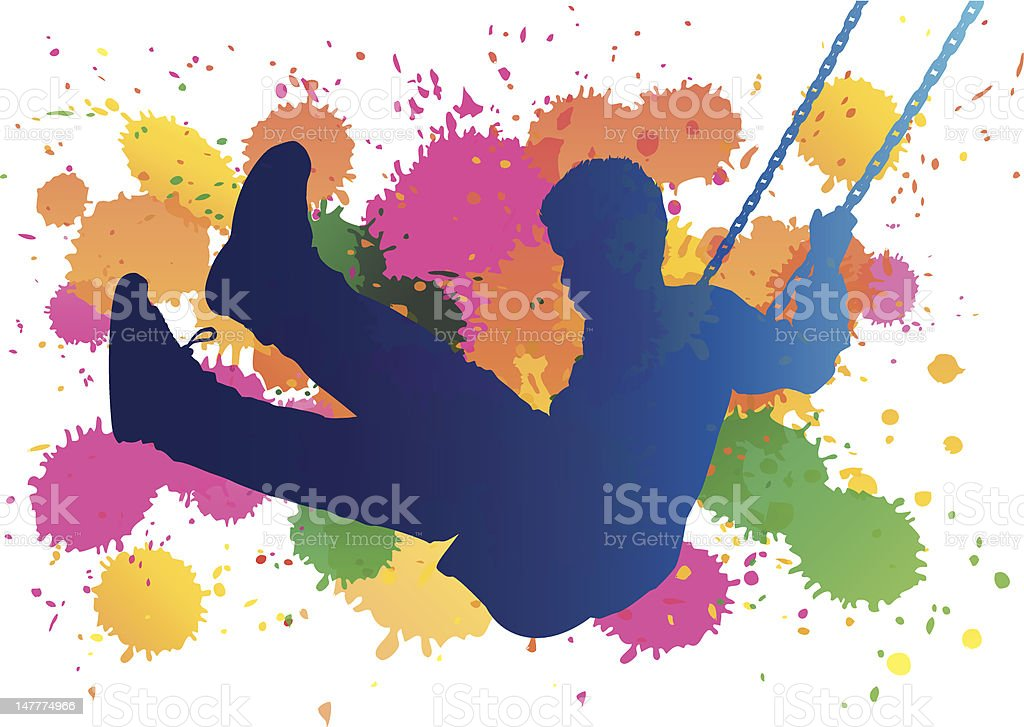 Swing Splat vector art illustration