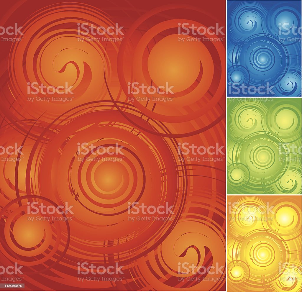 Swirl Backgrounds royalty-free stock vector art