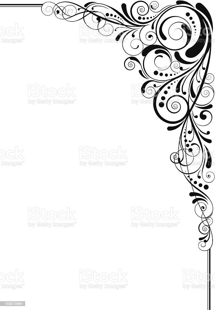 Swirl black angle design vector art illustration