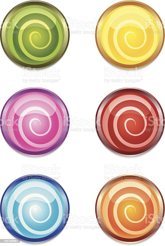 Swirl buttons royalty-free stock vector art