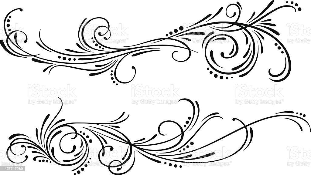 Swirl Design Elements vector art illustration