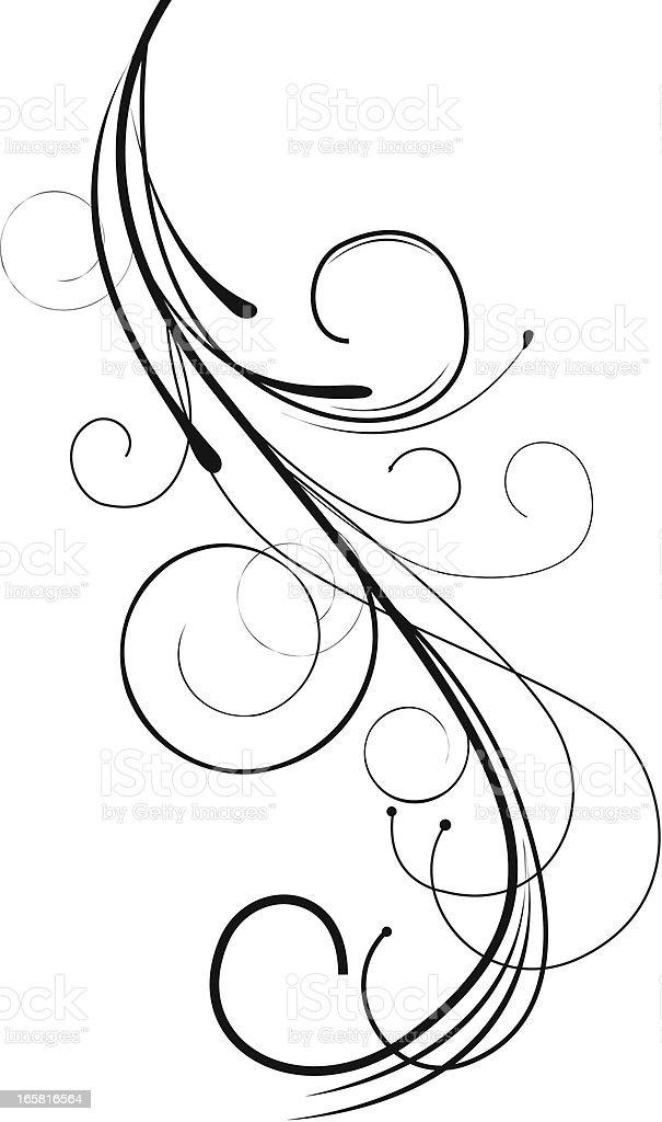 Swirl Design vector art illustration
