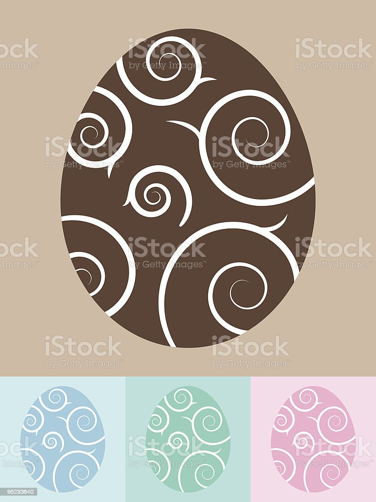 Swirl Easter Eggs royalty-free stock vector art