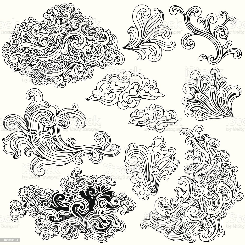 Swirl Elements royalty-free stock vector art