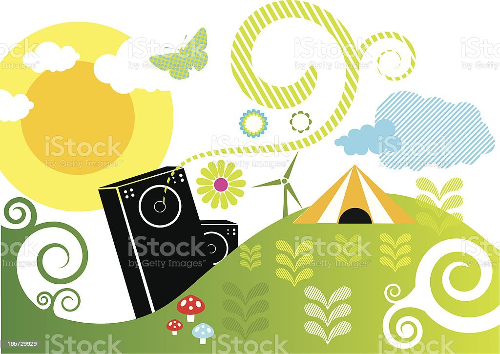 swirl festival royalty-free stock vector art