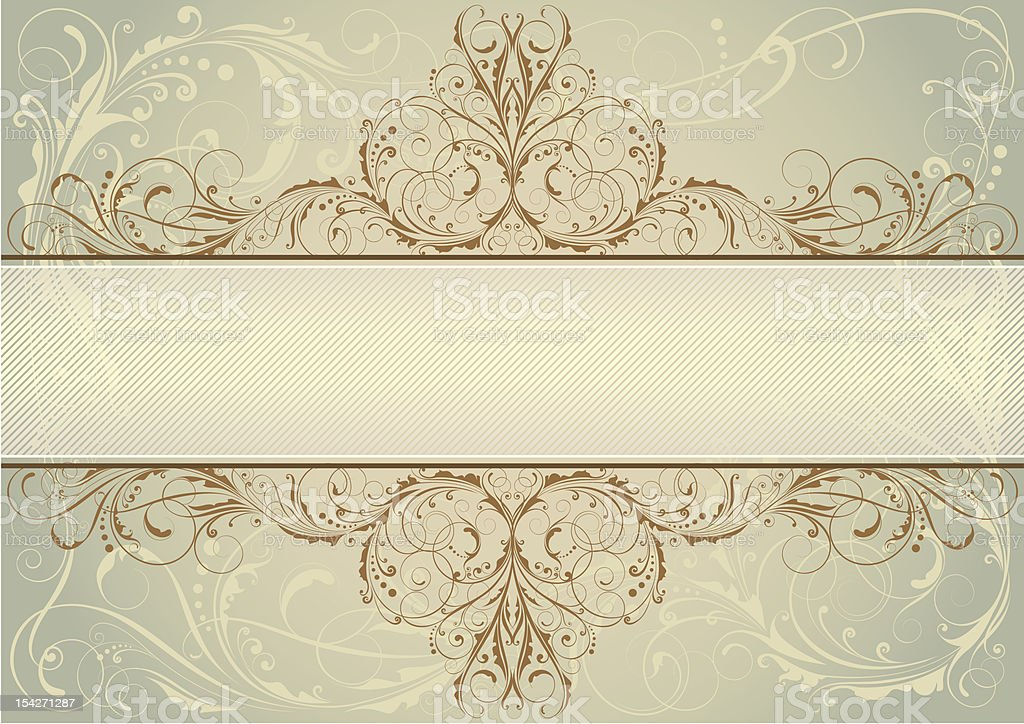 Swirl floral background label royalty-free stock vector art