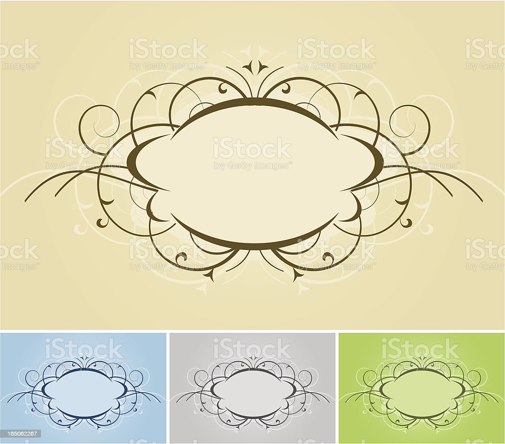 Swirl Floral Frames royalty-free stock vector art