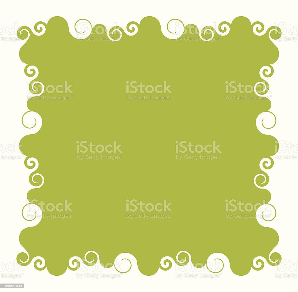 Swirl Frame royalty-free stock vector art