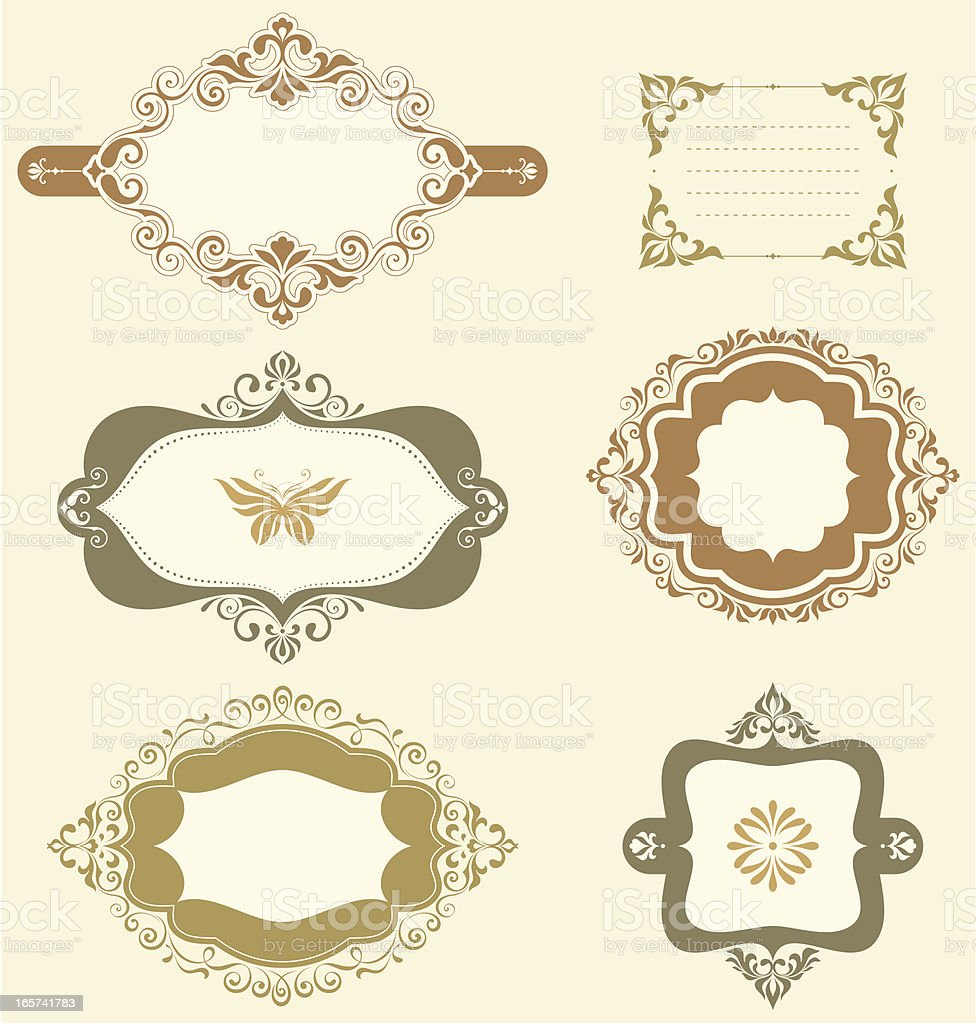 Swirl Ornate Frames royalty-free stock vector art