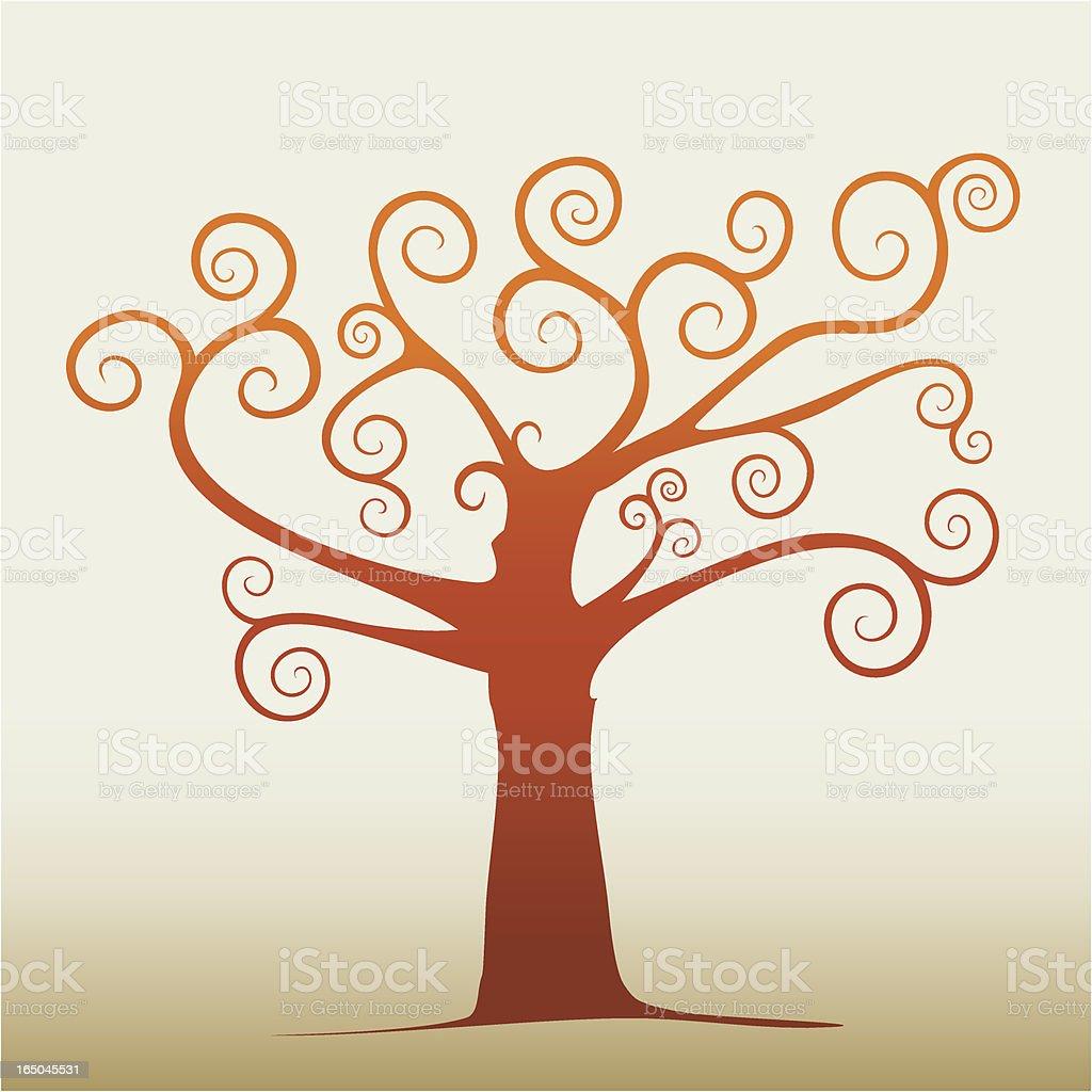 Swirl tree royalty-free stock vector art