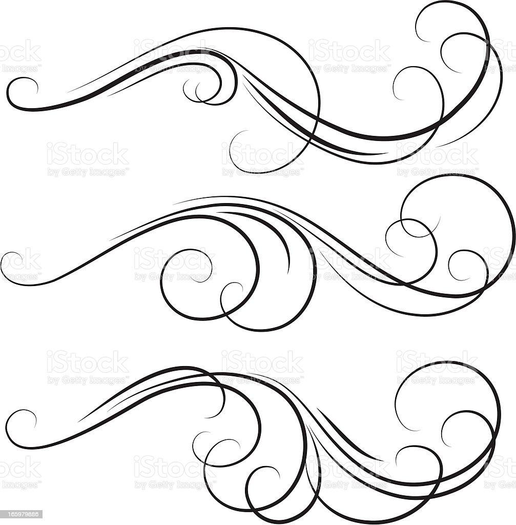 swirl vector art illustration
