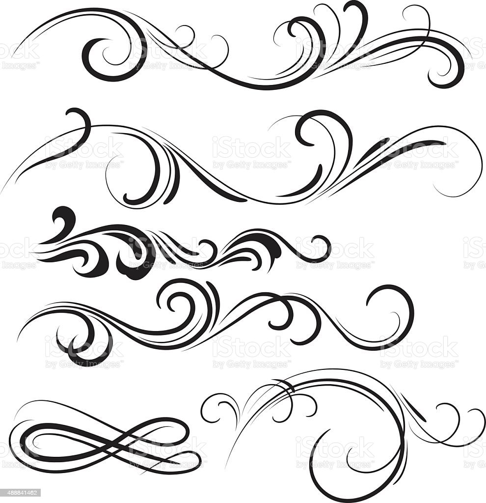 swirl vector art illustration