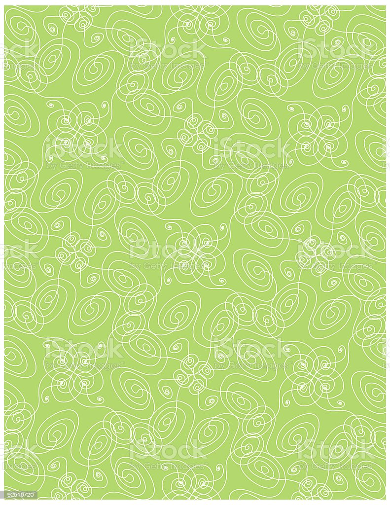 Swirl Wallpaper royalty-free stock vector art