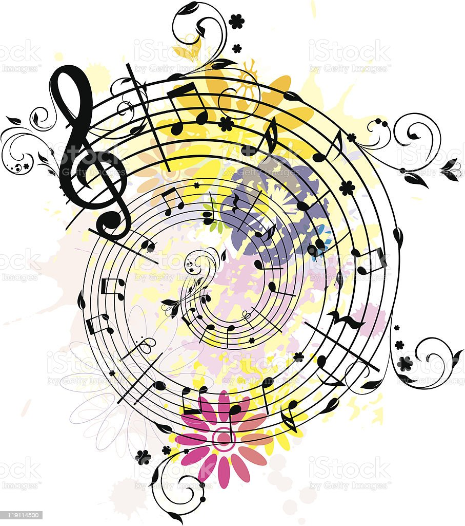Swirling colored melody royalty-free stock vector art