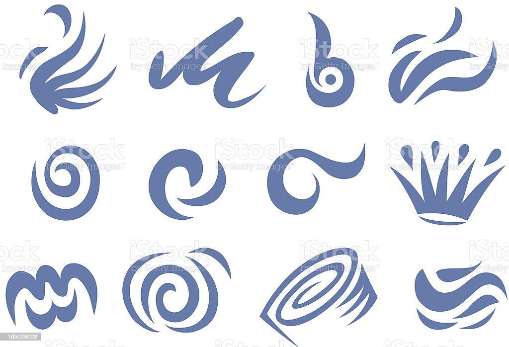 Swirls twirls and strange shapes royalty-free stock vector art