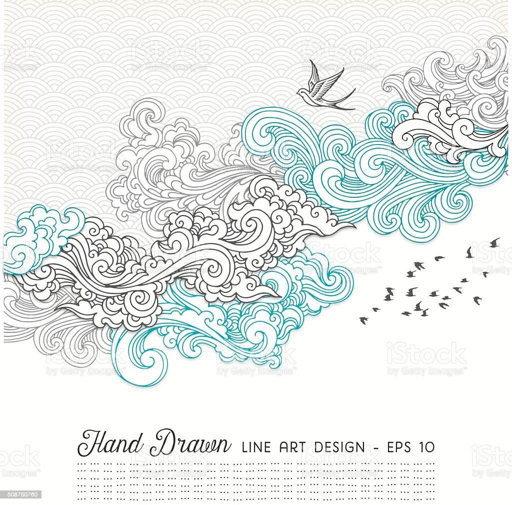 Swirly Doodles vector art illustration