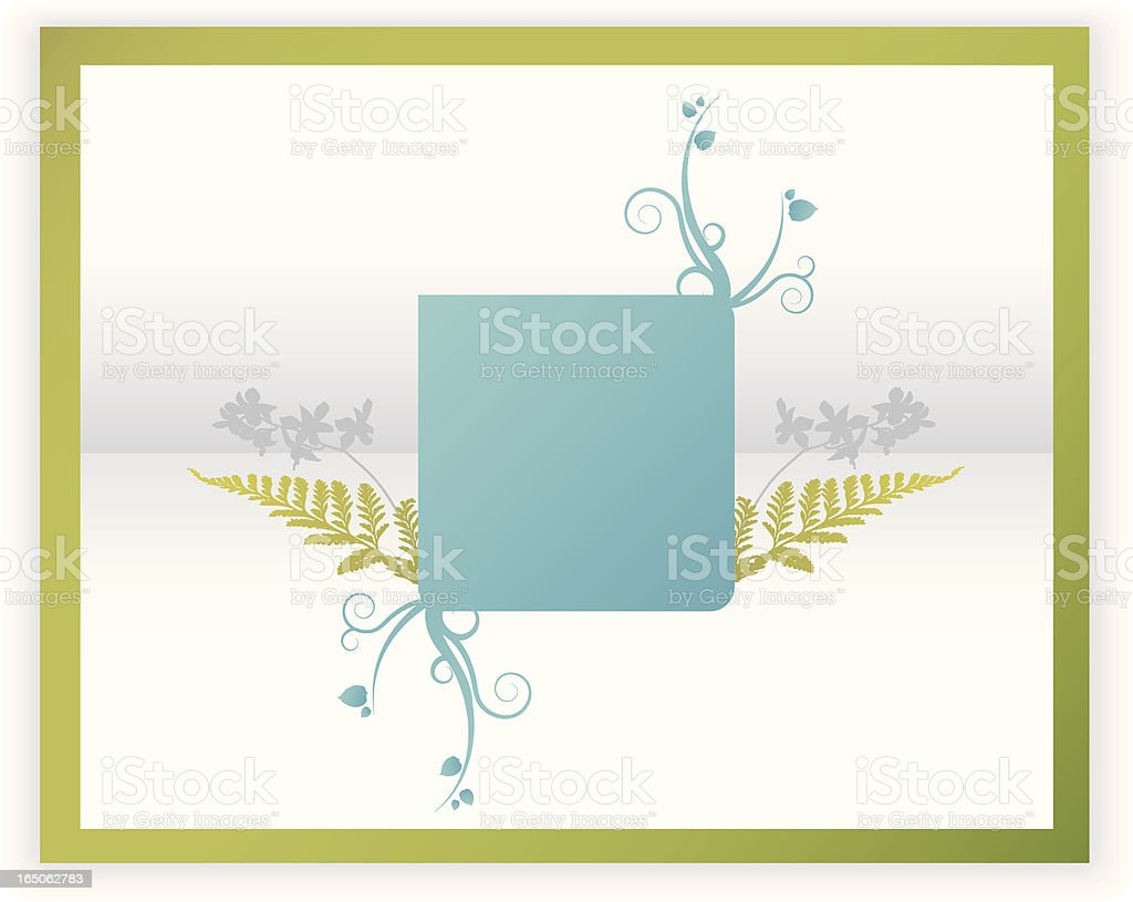 swirly fern orchid sign royalty-free stock vector art