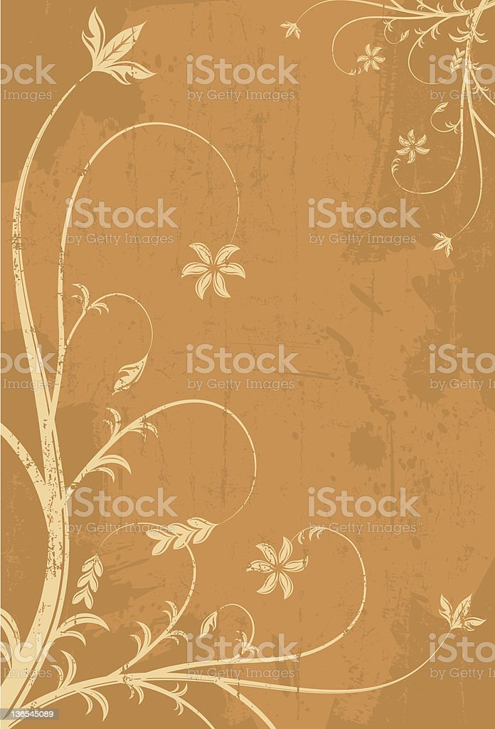 Swirly florals royalty-free stock vector art