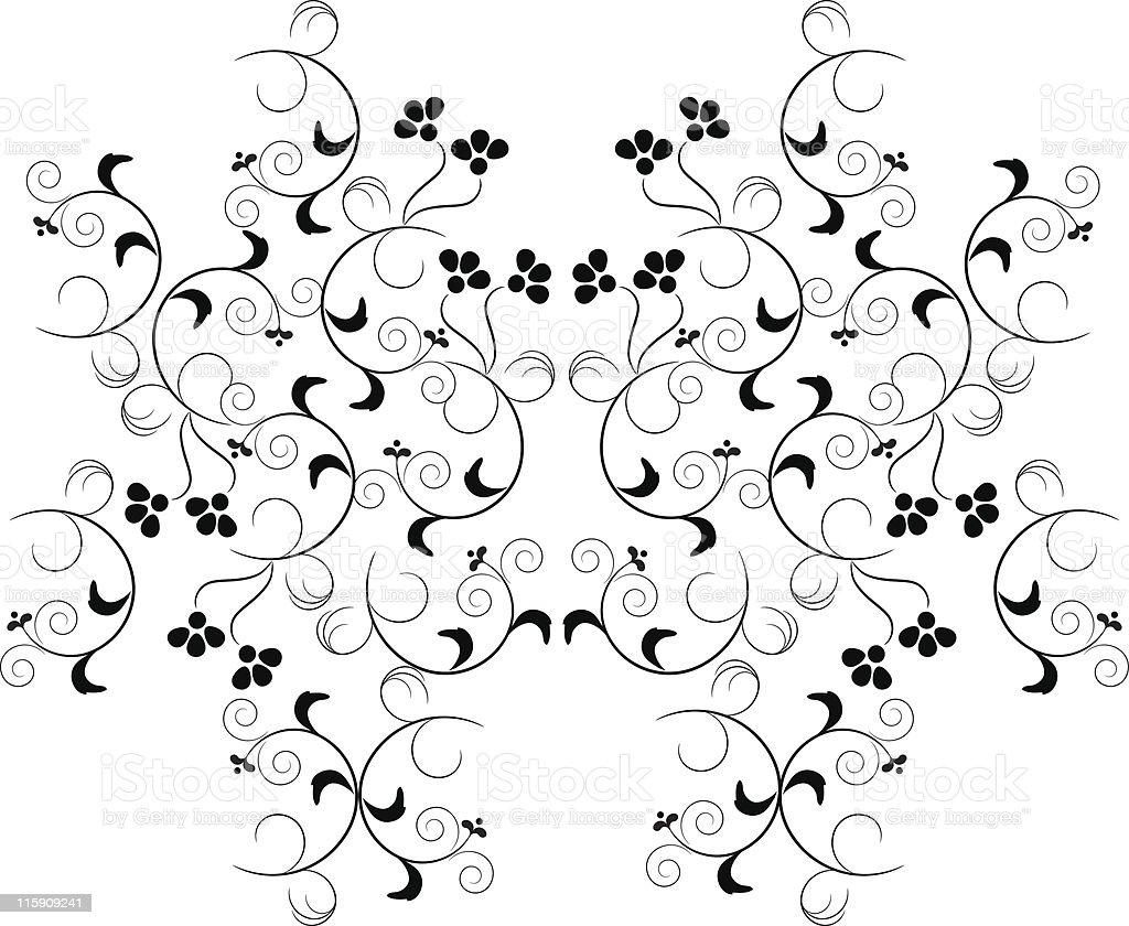 Swirly flower pattern royalty-free stock vector art