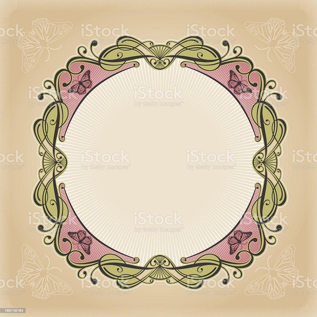 Swirly Frame royalty-free stock vector art