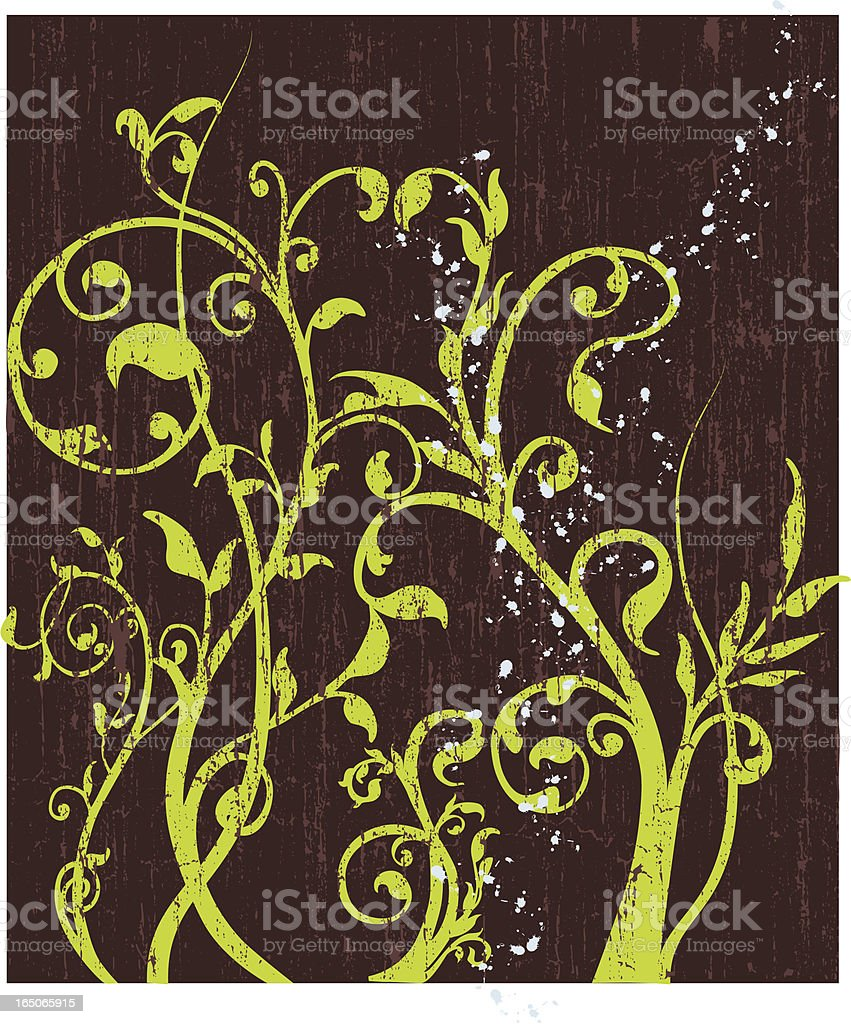 Swirly Grunge Vector royalty-free stock vector art