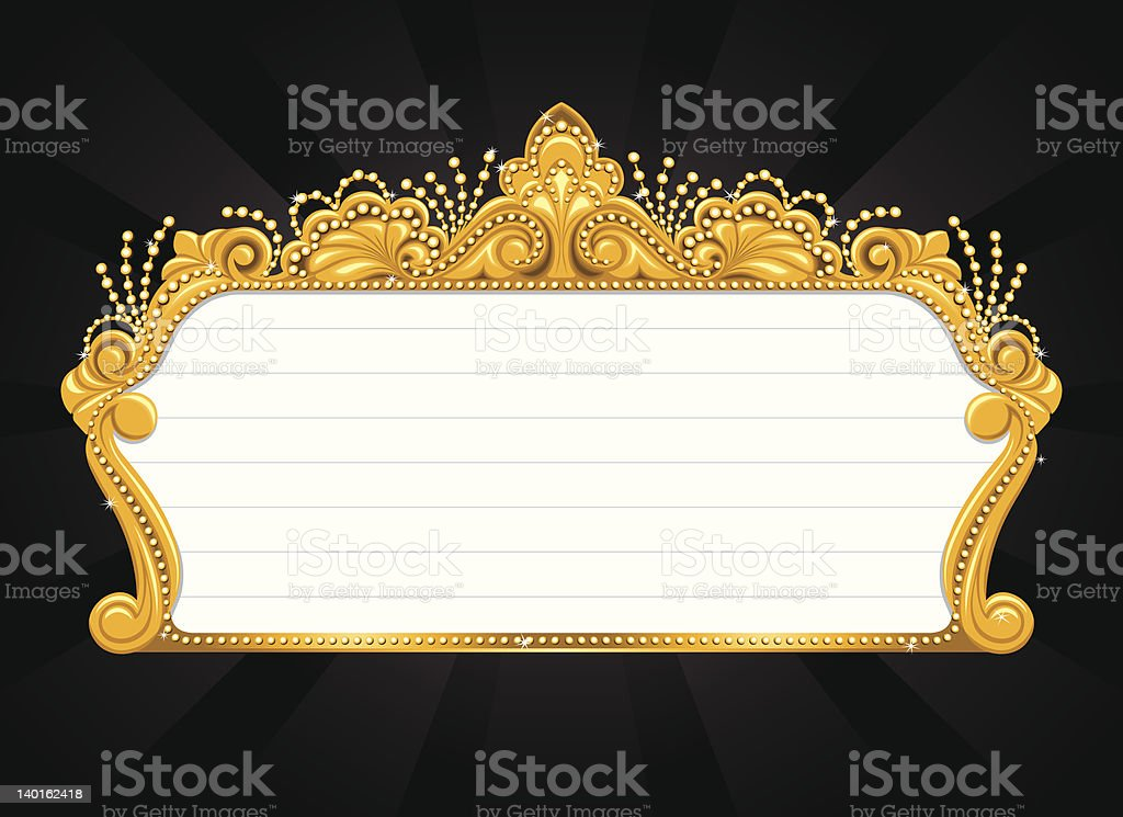Swirly Marquee royalty-free stock vector art