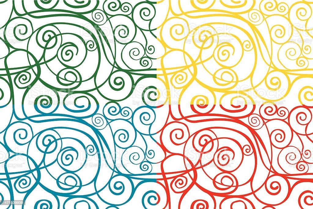Swirly patterns vector art illustration