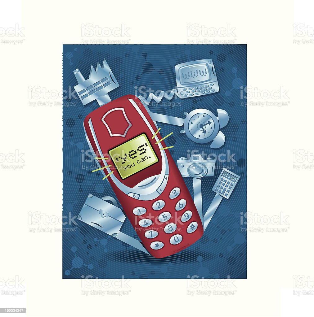 Swiss Army Phone royalty-free stock vector art