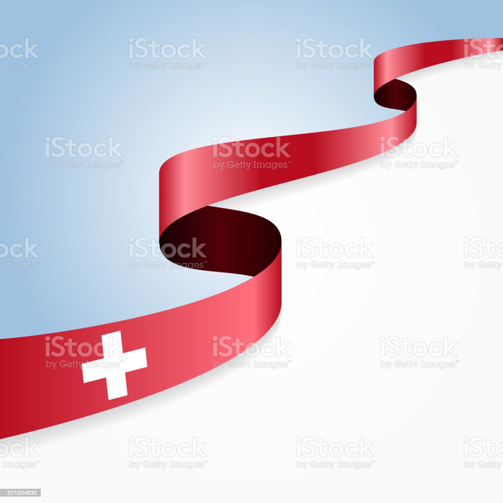 Swiss flag background. Vector illustration vector art illustration
