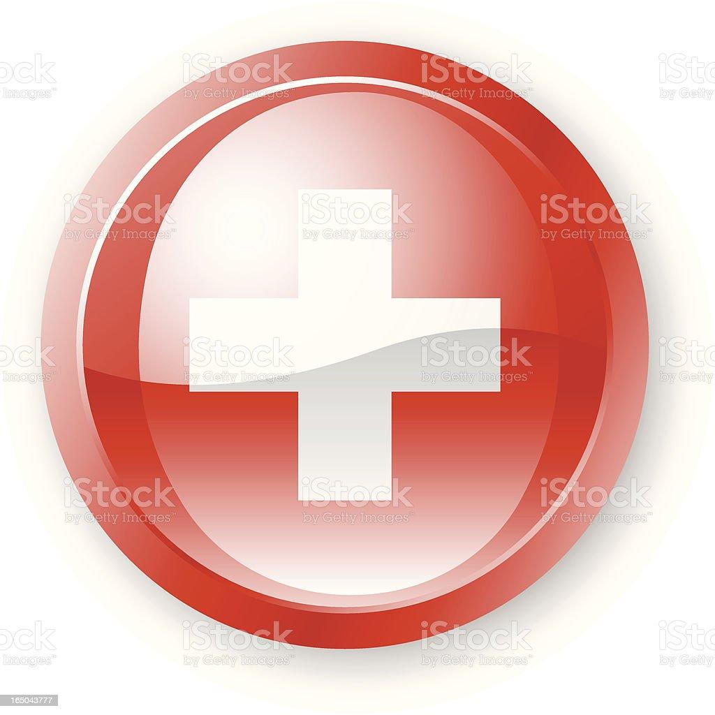 Swiss Flag Icon royalty-free stock vector art