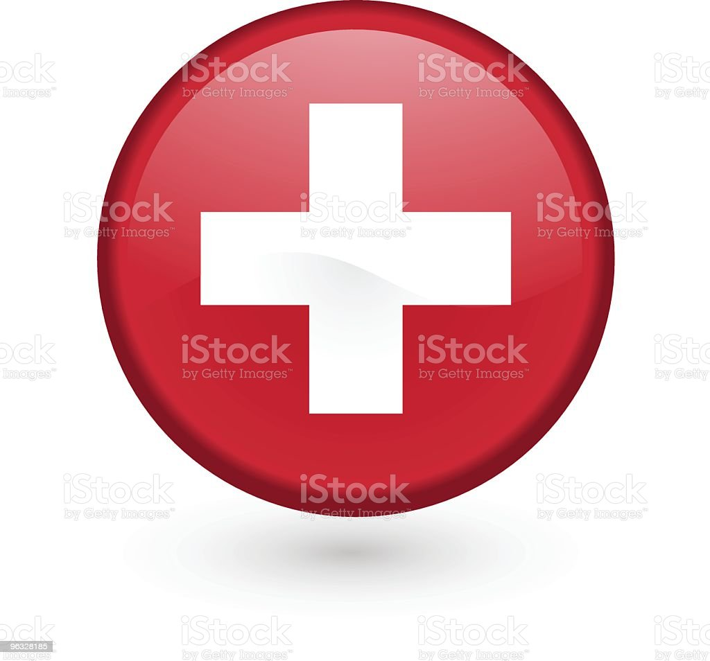 Swiss flag vector button royalty-free stock vector art