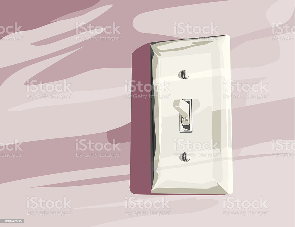 Switchable Light Switch royalty-free stock vector art