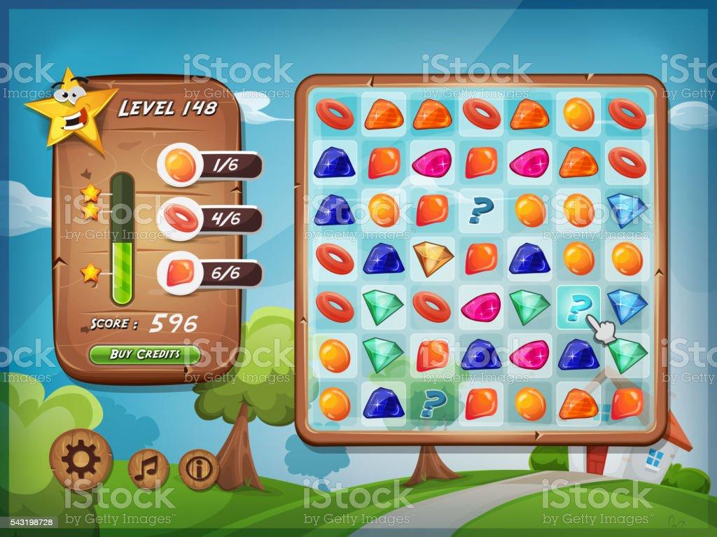 Switcher Game User Interface For Tablet Pc vector art illustration