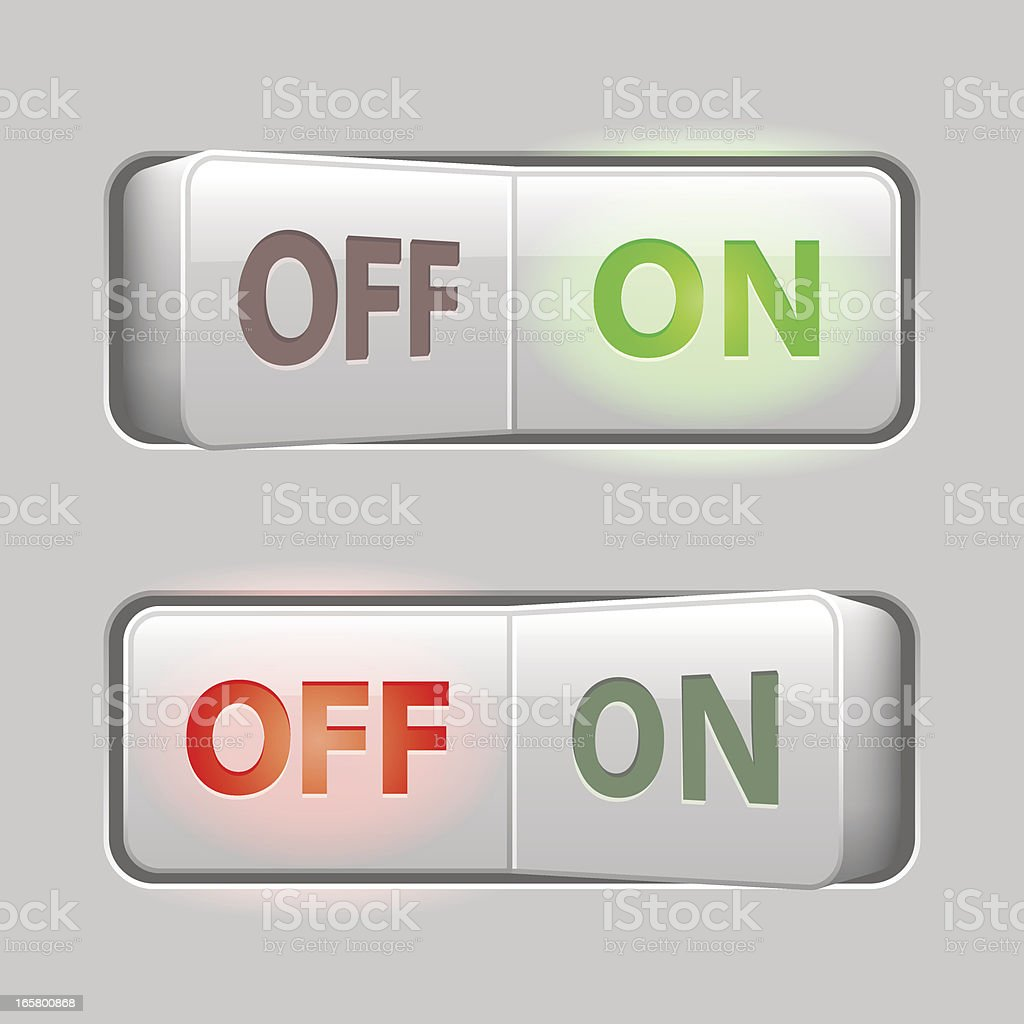 Switches light (On Off) (8 credits only) vector art illustration
