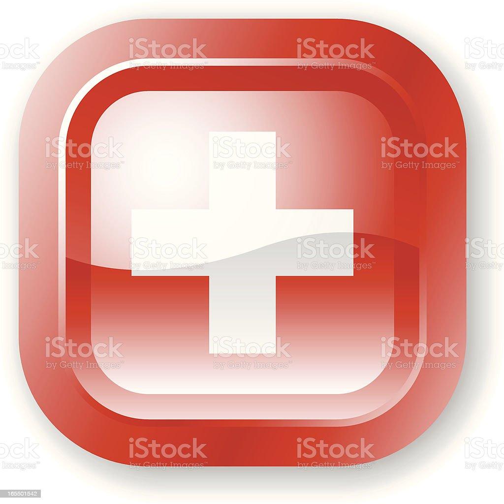 Switzerland Flag Icon royalty-free stock vector art