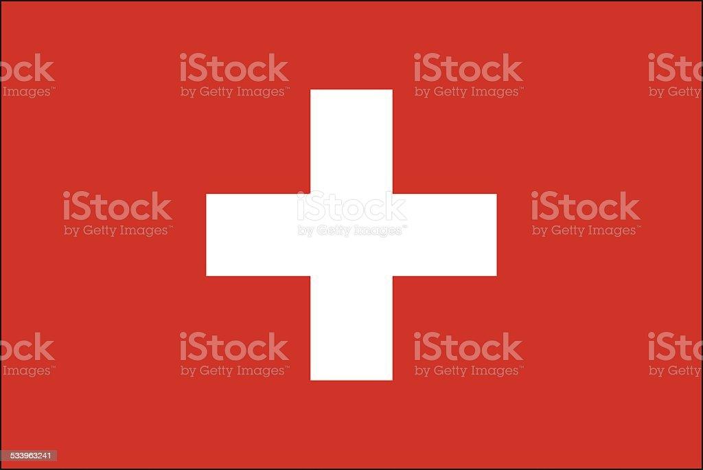 Switzerland flag vector art illustration