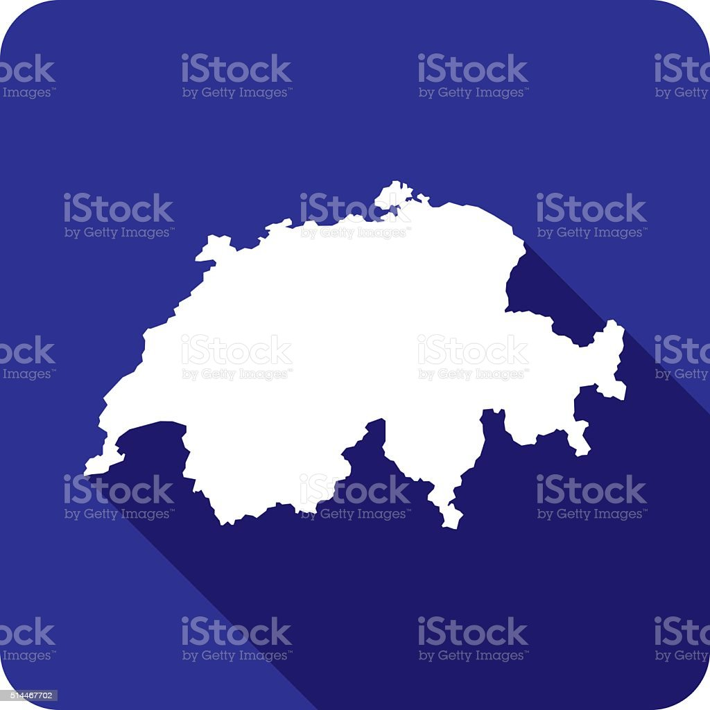 Switzerland Icon Silhouette vector art illustration