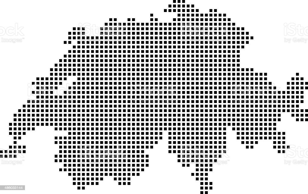 Switzerland Map vector art illustration