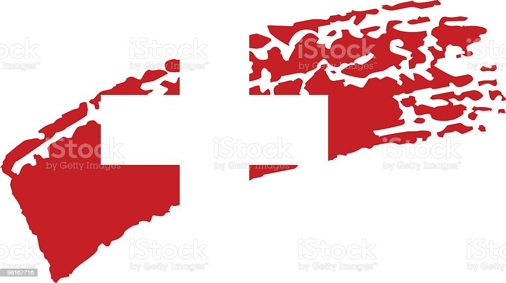 Switzerland painted flag royalty-free stock vector art